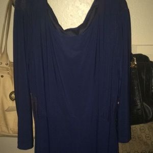 Navy blue dress with see through sides size 11